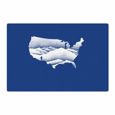 BarmalisiRTB Natural Wonder USA Digital Blue/White Area Rug Rug Size: 2 x 3