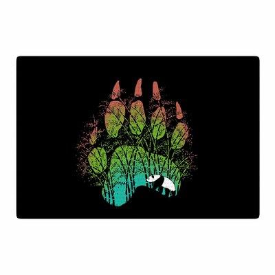 BarmalisiRTB Panda Track Digital Black/Green Area Rug Rug Size: 4 x 6