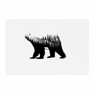 BarmalisiRTB The Bea Illustrationr Black/White Area Rug Rug Size: 2 x 3