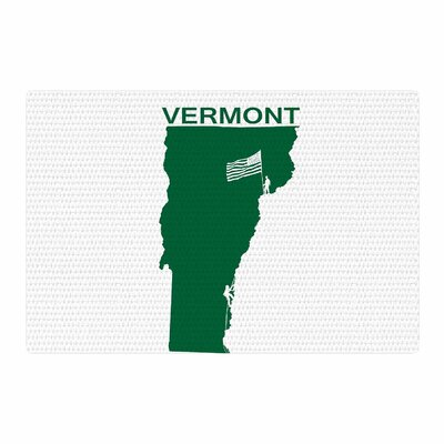 BarmalisiRTB Vermont Digital Green/White Area Rug Rug Size: 2 x 3