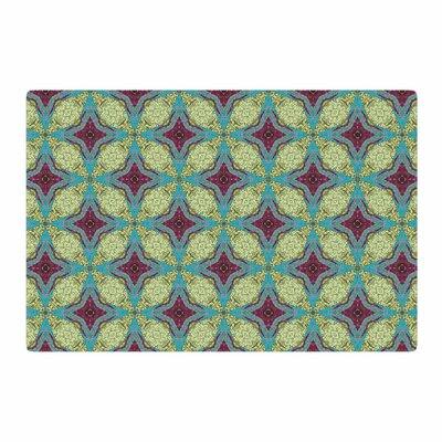 Rachel Watson Brocade Foulard Plum/Green Area Rug Rug Size: 4 x 6