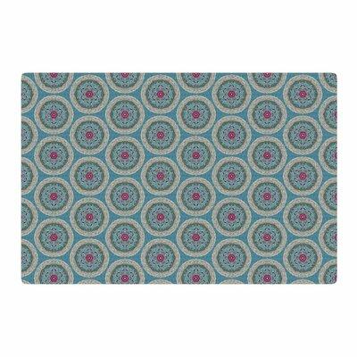 Rachel Watson Isle of Mull Brocade Blue/Pink Area Rug Rug Size: 2 x 3