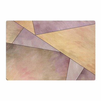 Sylvia Cook Fracture Digital Purple/Gold Area Rug Rug Size: 4' x 6'