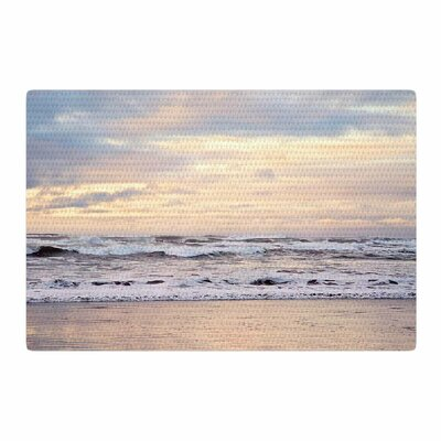 Sylvia Cook Ocean Sunset Photography Pastel/Yellow Area Rug Rug Size: 2 x 3