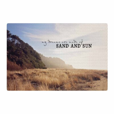 Sylvia Cook Sand and Sun Photography Beige/Blue Area Rug Rug Size: 2 x 3