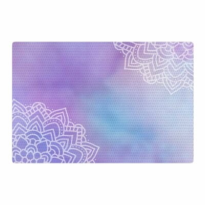Sylvia Cook Something Digital Purple/Blue Area Rug Rug Size: 4 x 6