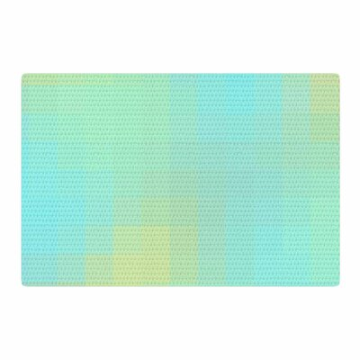 Sylvia Coomes Sea Mosiac Aqua/Yellow Area Rug Rug Size: 2 x 3