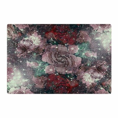 Shirlei Patricia Muniz Love Roses Lavender Digital Red Area Rug Rug Size: 2 x 3