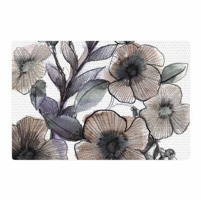 Sonal Nathwani Bouquet Illustration Beige/Gray Area Rug Rug Size: 4 x 6