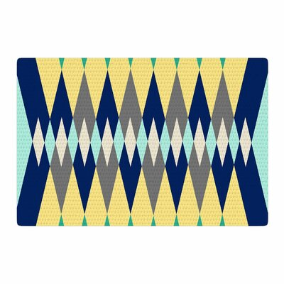 SusanaPaz Sweet Tribal Digital Green/Blue Area Rug Rug Size: 2 x 3