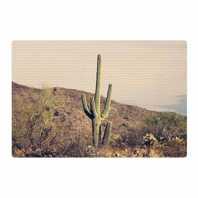 Sylvia Coomes Cactus Desert Landscape Photography Blue/Tan Area Rug Rug Size: 2 x 3