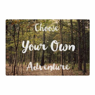 Sylvia Coomes Choose Your Own Adventure Photography Green/Brown Area Rug Rug Size: 2 x 3