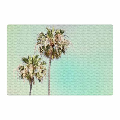 Sylvia Coomes Palm Trees Photography Blue/Pastel Area Rug Rug Size: 2 x 3