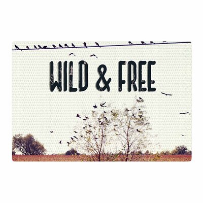Sylvia Coomes Wild and Free Photography Beige/Black Area Rug Rug Size: 4 x 6