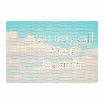 Sylvia Coomes You May Call Me A Dreamer Photography Blue/White Area Rug Rug Size: 2' x 3'