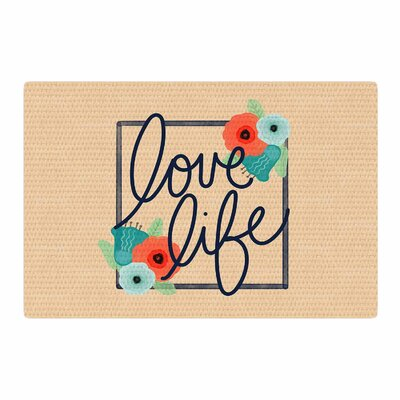 Noonday Design Love Life Digital Pastel/Teal Area Rug Rug Size: 4 x 6