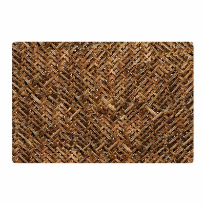 Susan Sanders Bamboo Basket Weave Photography Brown/Tan Area Rug Rug Size: 2 x 3