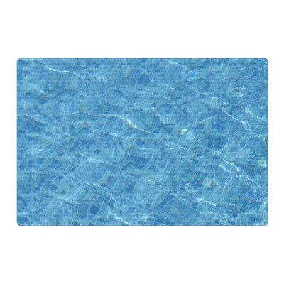 Susan Sanders Calm Pool Water Photography Blue/Teal Area Rug Rug Size: 2 x 3