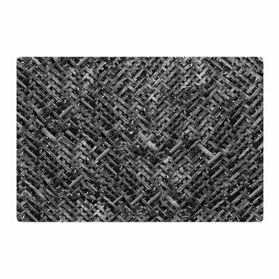 Susan Sanders Bamboo Weave Photography Gray/Black Area Rug Rug Size: 2 x 3