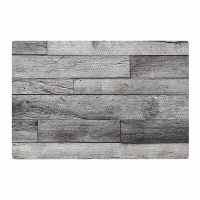 Susan Sanders Rustic Wood Photography Gray/Beige Area Rug Rug Size: 4 x 6