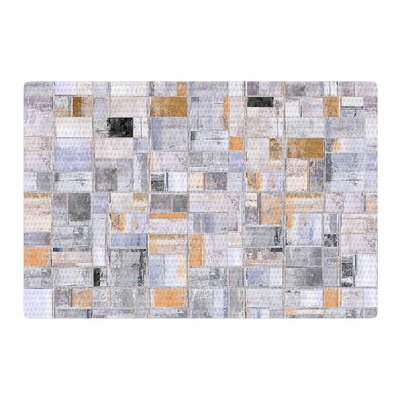 Susan Sanders Tile Squares Photography Tan/Gray Area Rug Rug Size: 2 x 3