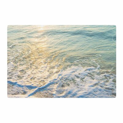 Susan Sanders Ocean Beach Water Photography Blue/Teal Area Rug Rug Size: 4 x 6