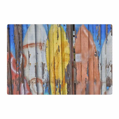 Susan Sanders Surfboard Painted Photography Fence/Blue Area Rug Rug Size: 4 x 6