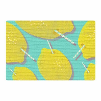 SusanaPaz Fresh Digital Lemonade Yellow/Blue Area Rug Rug Size: 2 x 3