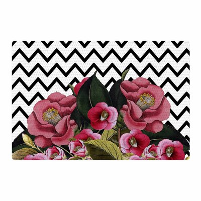 Tobe Fonseca Spring Pattern Chevron Media Mixed Pink/Black Area Rug Rug Size: 4 x 6