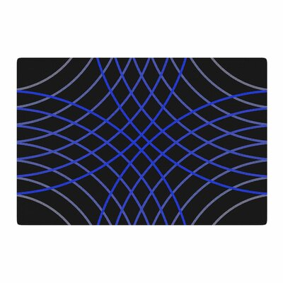 Trebam Cesta Digital Black/Blue Area Rug Rug Size: 4 x 6