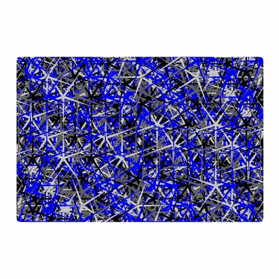 Trebam Kaktus Digital Blue/Black Area Rug Rug Size: 2 x 3