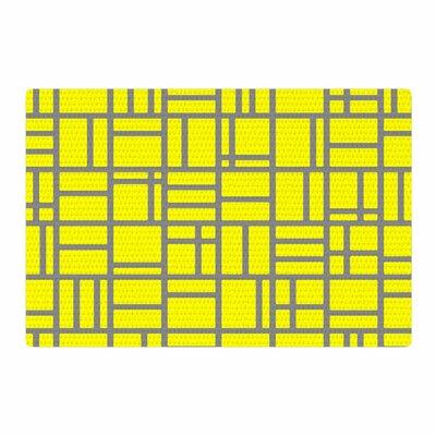 Trebam Kutije V.4 Yellow/Gray Area Rug Rug Size: 2 x 3