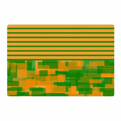 Trebam Listati V2 Modern Vector Orange/Green Area Rug Rug Size: 4 x 6