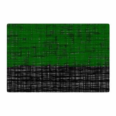 Trebam Platno Modern Green/Black Area Rug Rug Size: 4 x 6