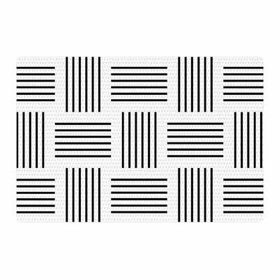 Trebam Postrance Digital Black/White Area Rug Rug Size: 2 x 3