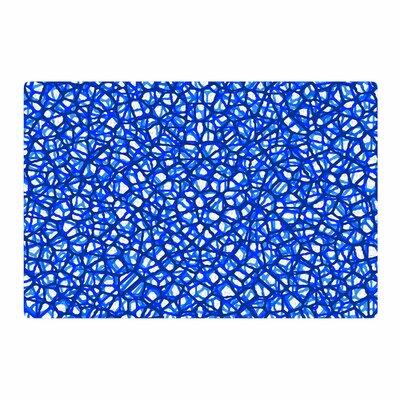 Trebam Staklo Digital Blue/White Area Rug Rug Size: 4 x 6