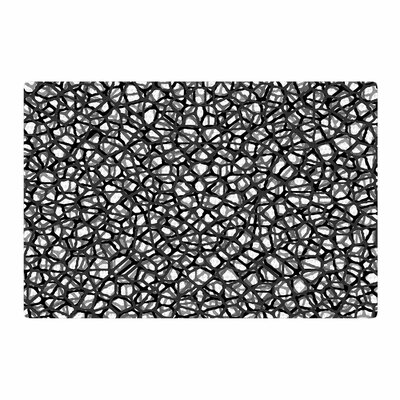 Trebam Staklo Digital Black/Gray Area Rug Rug Size: 4 x 6