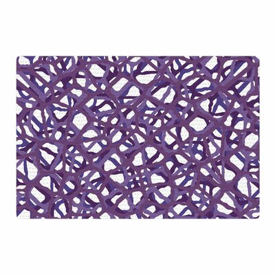 Trebam Vino Modern Vector Purple/White Area Rug Rug Size: 4 x 6