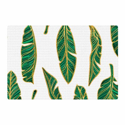 83 Oranges Banana Leaf Gold/Green Digital Area Rug Rug Size: 4 x 6