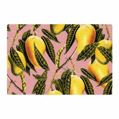Hello Sweetness Illustration Gold/Yellow Area Rug Rug Size: 2 x 3
