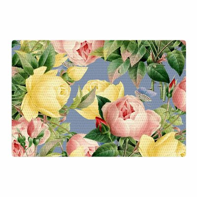 83 Oranges Island Dreams Illustration Blue/Pink Area Rug Rug Size: 4 x 6