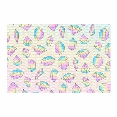 Strawberringo Diamonds Vector Pink/Pastel Area Rug Rug Size: 4 x 6