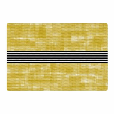 Trebam Plima V.4 Digital Gold/Black Area Rug Rug Size: 4 x 6