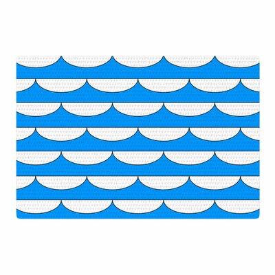 Trebam Valovi V.3 Digital Blue/White Area Rug Rug Size: 4 x 6