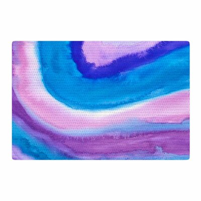 Viviana Gonzalez Agate Inspired Watercolor Abstract Blue/Purple Area Rug Rug Size: 2 x 3