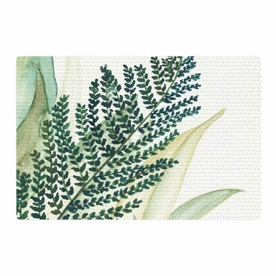 Viviana Gonzalez Botanical Vibes 02 Watercolor Pastel Green Area Rug Rug Size: 2 x 3