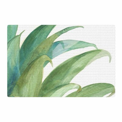 Viviana Gonzalez Botanical Vibes 03 Watercolor Pastel Green Area Rug Rug Size: 2 x 3