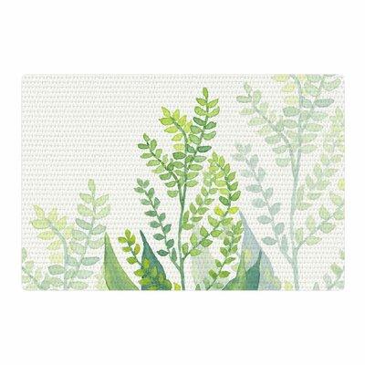 Viviana Gonzalez Botanical Vibes 06 Digital Pastel Green Area Rug Rug Size: 2 x 3