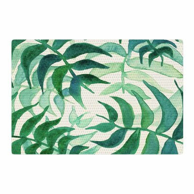 Viviana Gonzalez Botanical Vibes Watercolor Green/Beige Area Rug Rug Size: 2 x 3