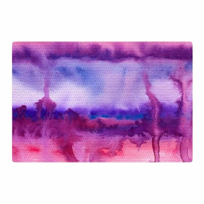 Viviana Gonzalez Improvisation 22 Watercolor Magenta/Purple Area Rug Rug Size: 4 x 6